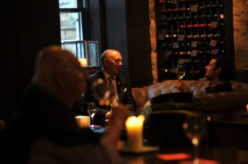 customers of Edinburgh's Divino Enoteca are shown in a food and drink PR image
