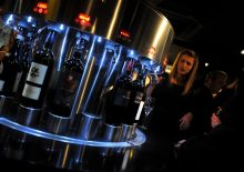 A state-of-the-art dispenser at Divino Enoteca is pictured in a food and drink PR image at the launch of the wine bar