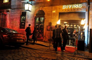 The entrance to Divino Enoteca is shown in a food and drink PR image taken at the venue's launch event