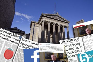 Collage of coverage achieved about Surgeons Quarter losing thousands due to tourist tax