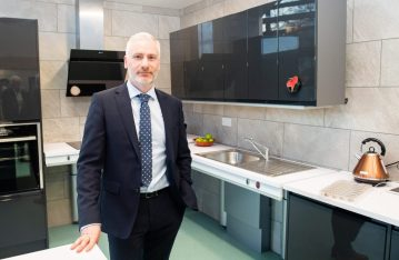 PR photograph Simon Fitzpatrick, Strategic Development Director at Blackwood Housing and Care at the Blackwood House