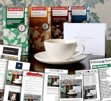 Nira Caledonia switches its plastic coffee pods for environmentally friendly alternatives - story by hotel PR agency