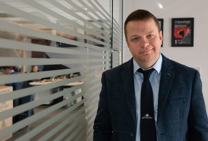 Tech PR agency shares image of Skyrora CEO Volodymr Levykin