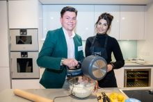 Ruby shows one guest how to make her signature meringue pie at an influencer event at CALA's most upmarket development, The Crescent