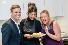 Guests tuck into Ruby's finished dish at an influencer event hosted by CALA Homes at The Crescent