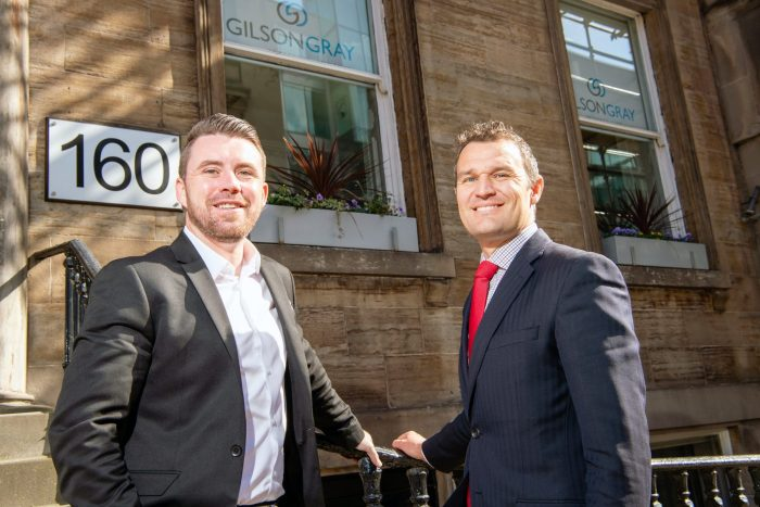 Legal PR photography of John Fulton and Murray Stewart from Gilson Gray