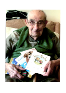 Bield resident Pat Mills on his 101st Birthday, shared by Holyrood PR