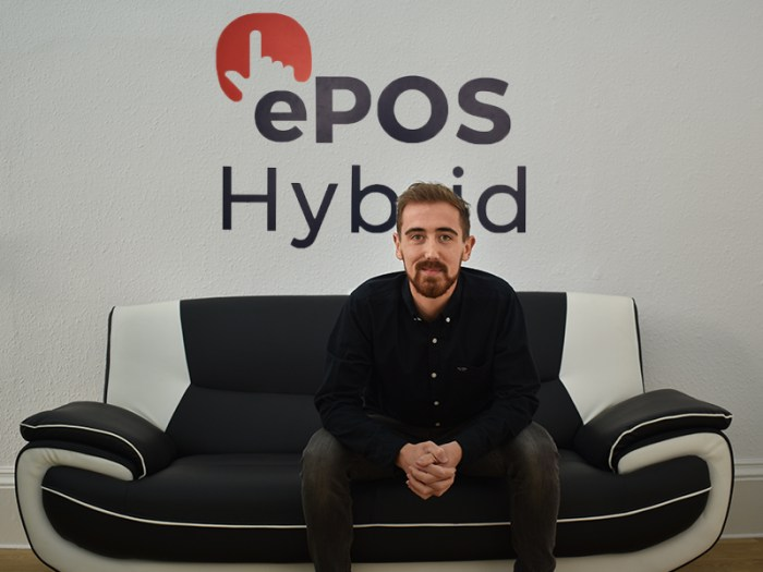 Tech PR photography of Andrew Gibbon, Head of Marketing at ePOS Hybrid