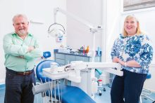 Jim Hall Dr Jacqui Frederick of Dental Group Clyde Munro