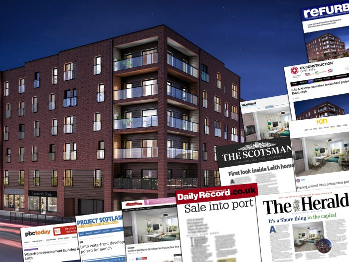 Property PR experts share montage of media coverage achieved from CALA's Waterfront Plaza launch story