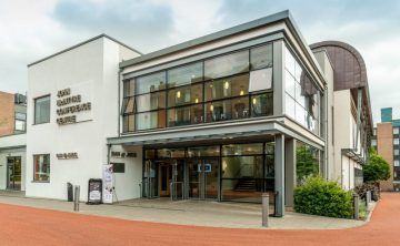 Exterior image of the John McIntyre Conference Centre (JMCC) at the University of Edinburgh's Pollock Halls Campus, a purpose-built venue and important part of Edinburgh First's Conferencing business| Hospitality PR