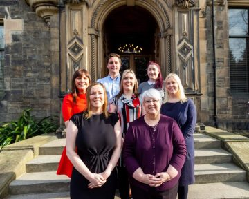 Image shows the team at Domus, University of Edinburgh's private lettings team - which has seen its stock of housing grow to 300+ | Scottish PR