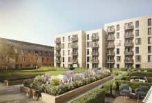 Property PR image shows CGI of Canonmills Garden development on the market with leading property firm Gilson Gray
