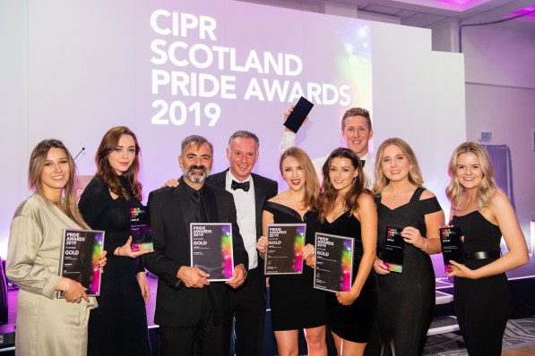 Award winning PR agency Holyrood PR at CIPR PRide Awards 2019