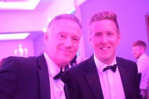 PR photograph of Holyrood PR Account Director Chris Fairbairn and Director Scott Douglas