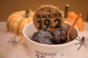 Food and Drink PR photography of blackcurrant and liquorice ice at Mackie's 19.2