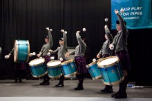 Scottish PR photography of Scottish Schools Pipe Band Championships