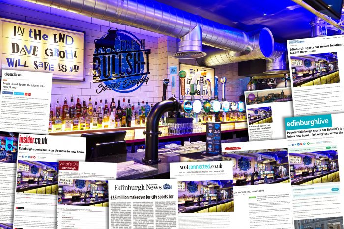 Image shows success of hospitality PR story of Belushi's expansion in Edinburgh