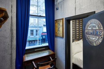 Hospitality PR photograph of the secret Vault Room at St Christopher's Inns hostel in Edinburgh