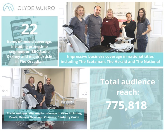 Dental PR success for Clyde Munro