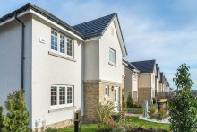 Property PR image shows new homes at Roslin development by CALA Homes East