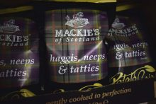 Packs of Mackie's Crisps' Haggis, neeps and tatties new limited edition variety