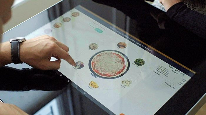 Tech PR photography of ePOS Hybrid smart table technology