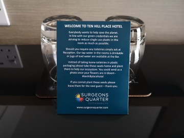 Hotel swaps single-use plastics for Scottish wildflowers - Edinburgh PR