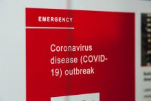 Coronavirus PR Support image showing a red warning sign highlighting the COVID-19 outbreak | Free to use image, photo by Markus Spiske on Unsplash
