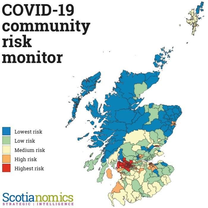 COVID Index Map, part of PR in Scotland for Scotianomics