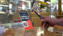 Tech PR photography for ePos Hybrid contactless ordering