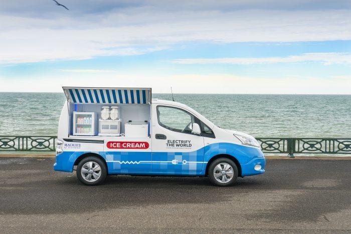 Mackie's of Scotland and Nissan create zero-emission ice cream van in PR revelation