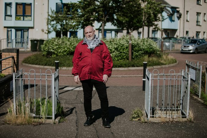 Photo of Thomas Ferguson, a participant in Humans of the Walk campaign in a Charity PR story by public relations experts Holyrood PR in Edinburgh.