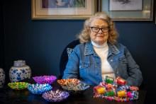 social care PR photography Artistic Dorothy aged 92 (1) Cramond Residence