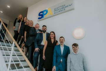 Public sector PR photography of the team at Scottish Procurement Alliance