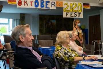 social care PR photography Cramond Residence Oktoberfest banner picture