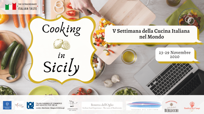 Food and Drink PR Italian Food Week, cooking in Sicily promotion picture