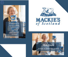 Coverage success from Mackie's of Scotland' lifetime supply of ice cream giveaway in food and drink PR success by public relations experts Holyrood PR