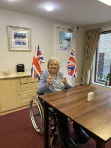 Social care PR photography, Mansfield Care resident, Rae Baikie