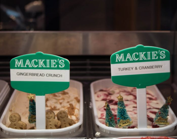 Food and Drink PR photography Gingerbread Crunch and Turkey Cranberry, Mackie's of Scotland