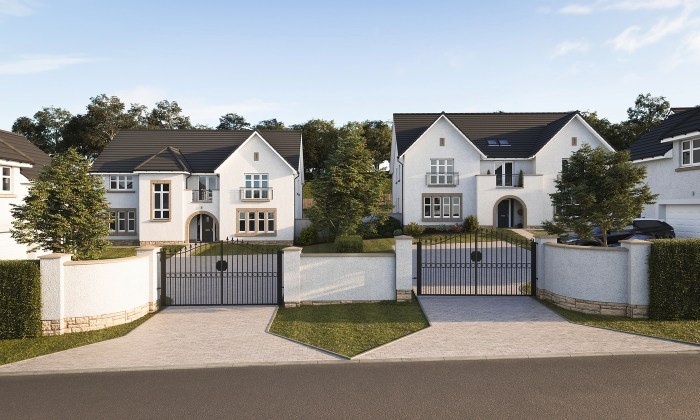 Property PR photography, The Avenue street scene at Ravelrig Heights.