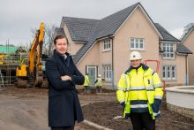 Craig Lynes and Kenny Reid in Balerno at CALA's Ravelrig Heights development