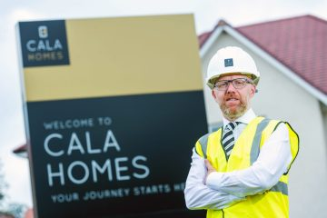 Property PR photography, Mark Foley, Crescent Site Manager. CALA Homes (East).