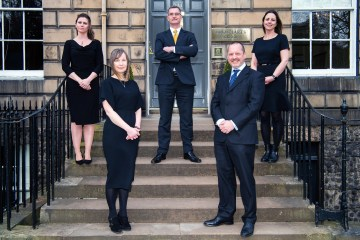 Legal PR photography, Five Partners at Urquharts.