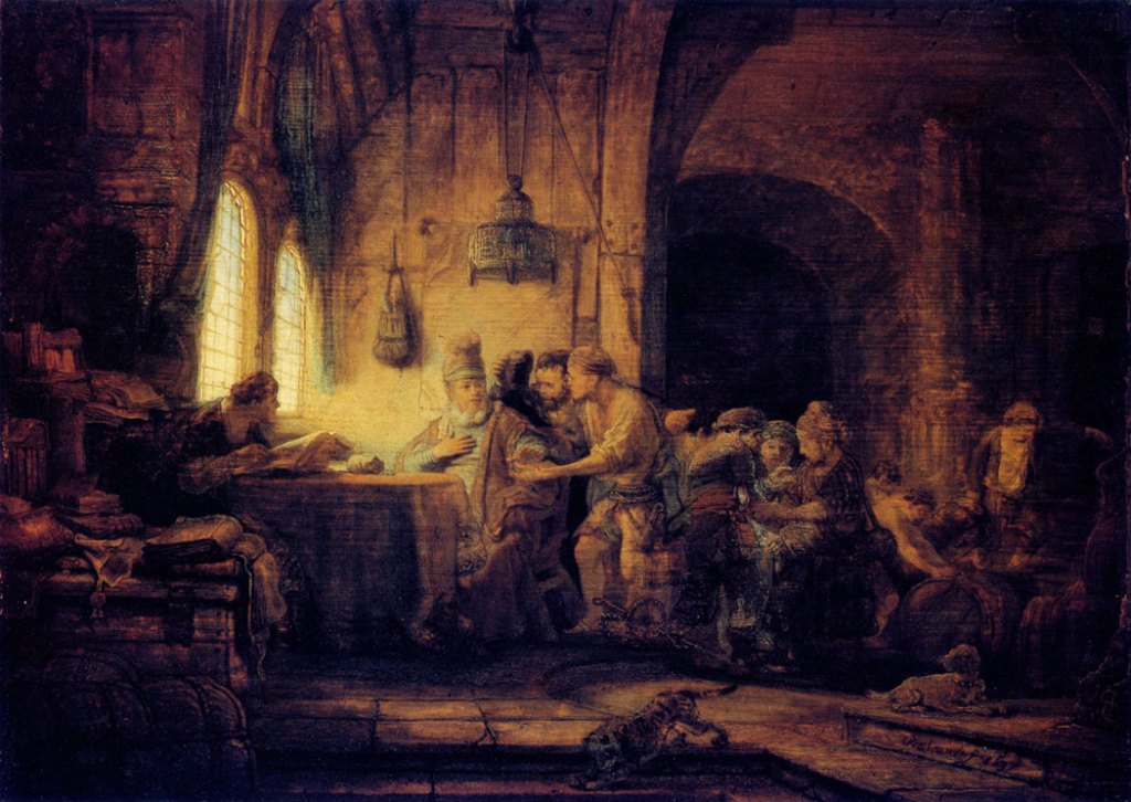 The Workers in the Vineyard by Rembrandt