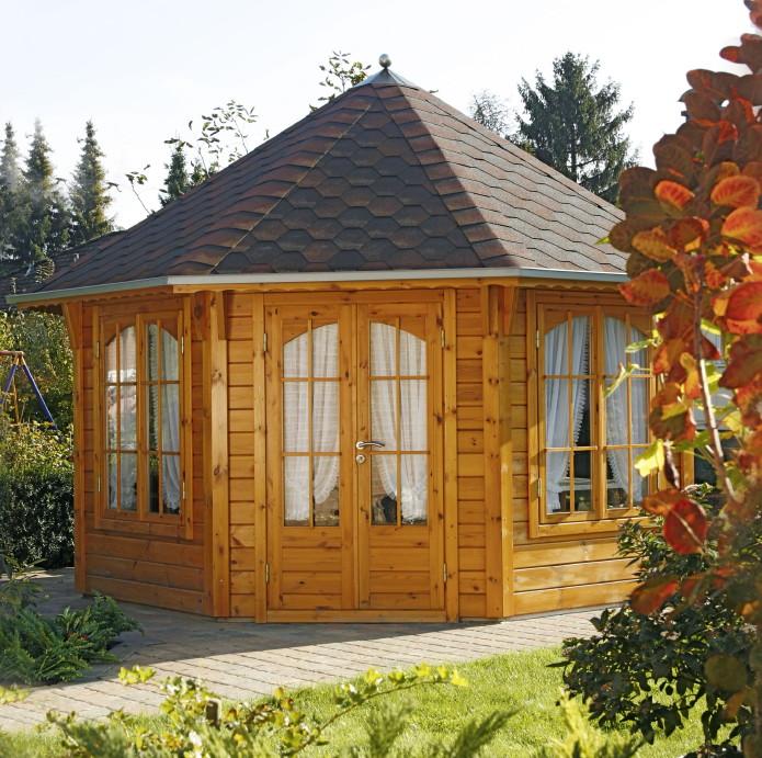 pavillon sechseckig selber bauen - boisholz,