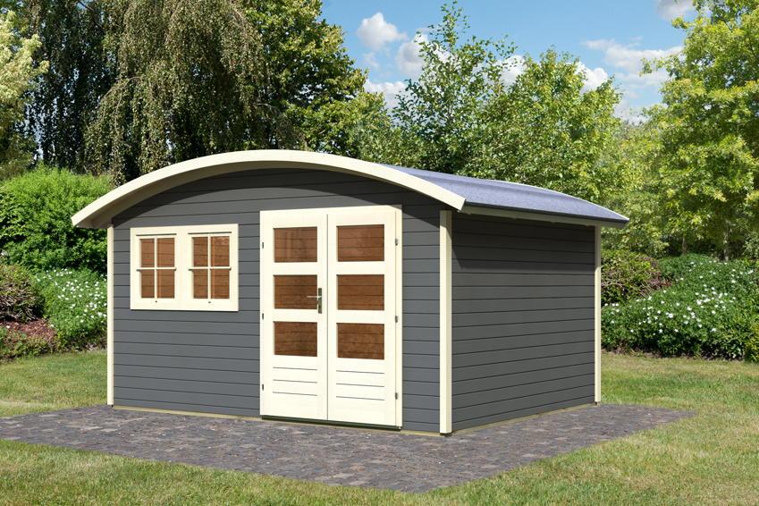 gartenhaus karibu friedland holz haus bausatz rundes dach - boisholz, Moderne