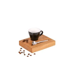 Espresso Serviertablett mit schwarzer Tasse Espressotablett