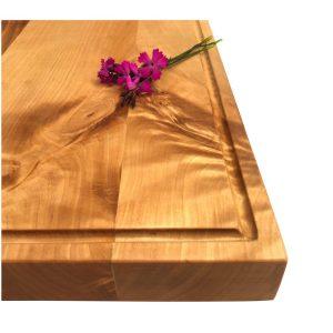 Küchenbrett Birkenholz mit Saftrille 4cm Stärke
