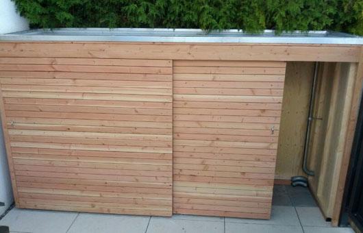 Gerätehaus Mit Schiebetüre Villani – Holz Im Garten Villani